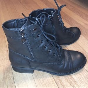 G By Guess Combat Boots
